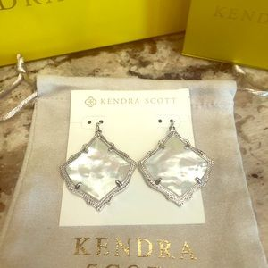 Kendra Scott Mother of Pearl Silver Earrings